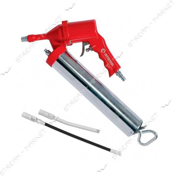 Пистолет для выдавливания смазки INTERTOOL PT-0607 пневмо две насадки
