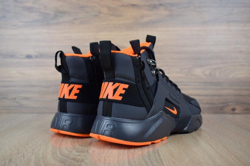 Фото  Nike Huarache X Acronym City MID Leather Black Orange (40-45)