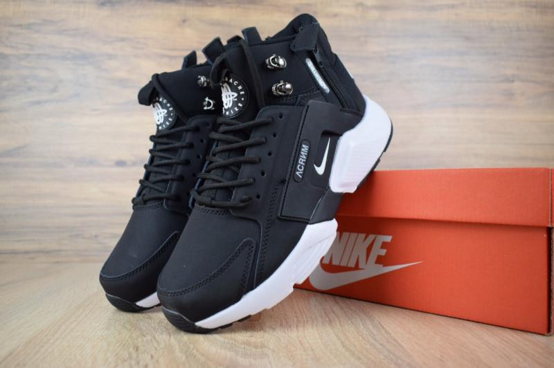 Фото  Nike Huarache X Acronym City MID Leather Black White (40-45)