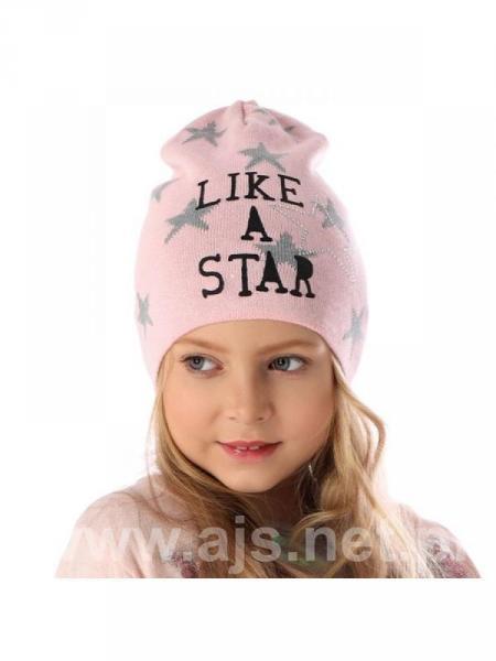 Шапки детские для девочек 36AJS109 Польша Наличие цвета уточняйте