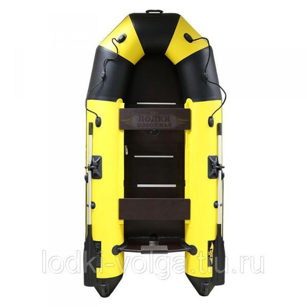 Лодка Муссон 2800 СК Жёлто/Чёрная усиленная