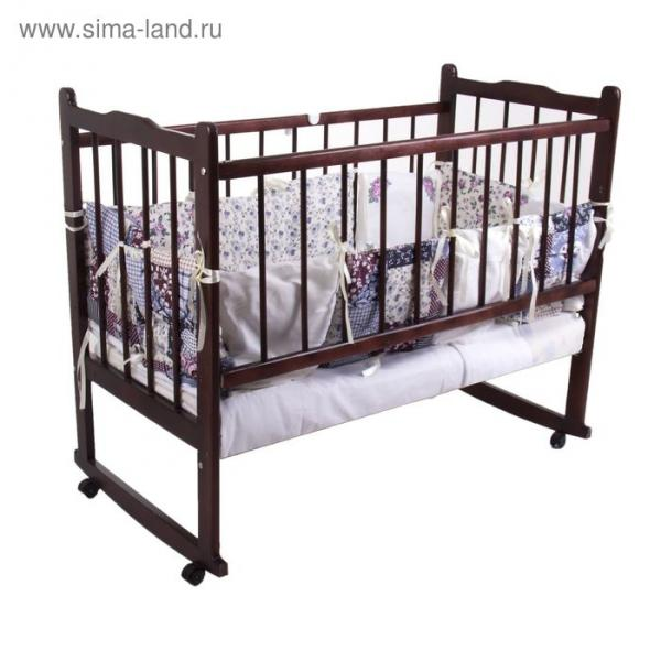 """Комплект в кроватку """"Эдельвейс"""" (6 предметов), цвет розовый 10010"""