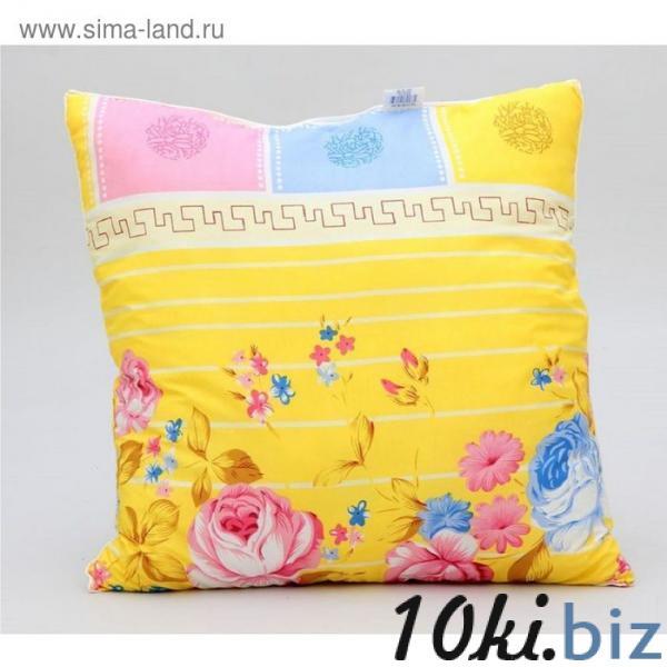 Подушка ПП-70чёс, 70х70 см, холлофайбер, ткань п/э, цвет микс купить в Беларуси - Декоративные подушки