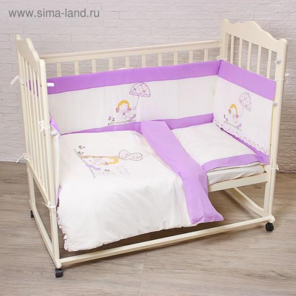 """Комплект в кроватку """"Куколка"""" (6 предметов), цвет бежевый 70112"""