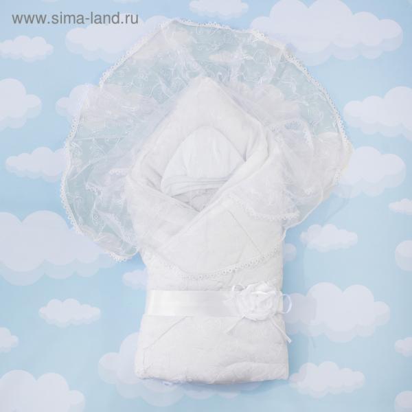 "Конверт-одеяло ""Диамант"" 105х105, цв белый, сатин хл100 1715/0"