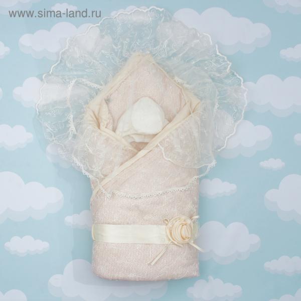 "Конверт-одеяло ""Диамант"" 105х105, цв бежевый, сатин хл100 1715/4"