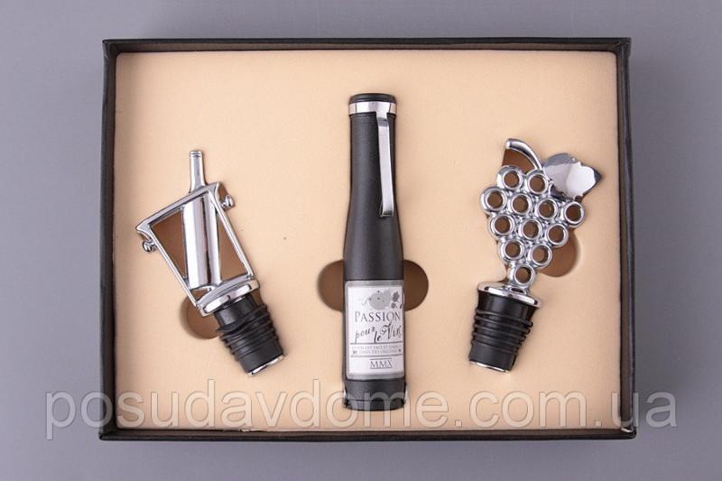 """Набор для вина Lefard """"Подарочный"""" 3 предмета (штопор, пробка, дозатор), 752-008"""