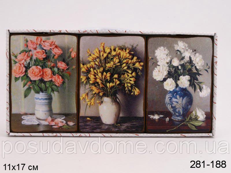Комплект декоративных панно Brookpace из 3 шт.11x17 см, 281-188