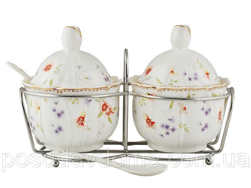 Набор баночек для соучов на подставке с ложечками Lefard Лаура, 943-048