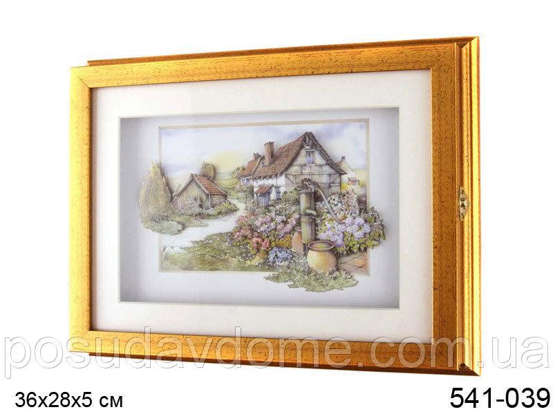 Ключница секционная без крючков Lefard 35,5х27,5х5 см Домик в деревне, 541-039
