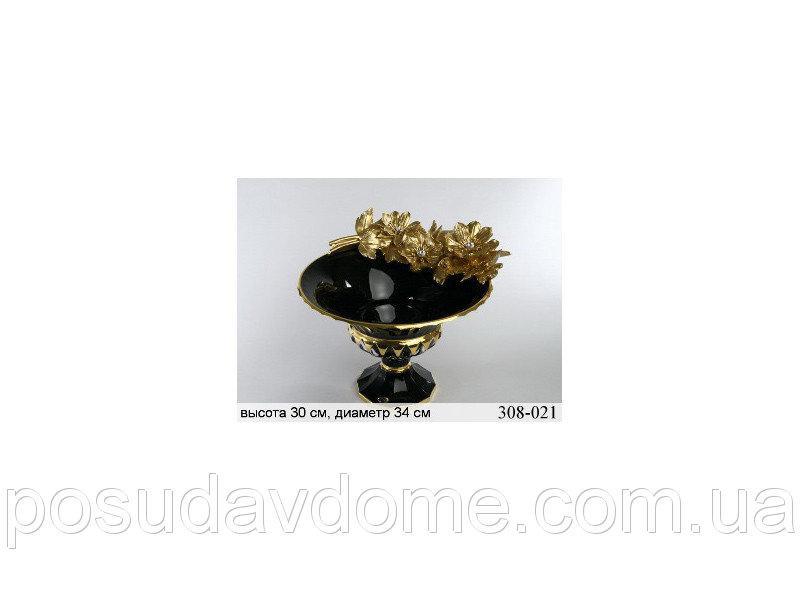 """Ваза """"золотые цветы"""", CEVIK GROUP s.r.l., 308-021"""