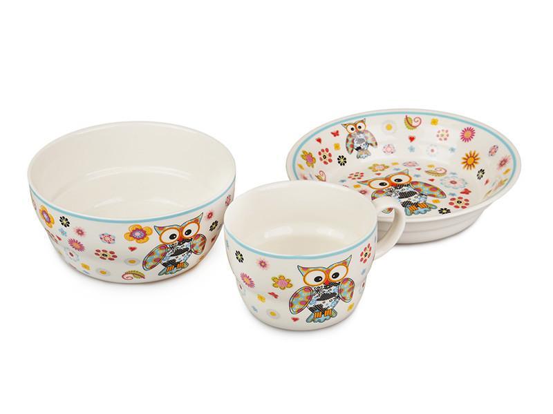 Набор детской посуды Lefard Совы 3 предмета, 359-013