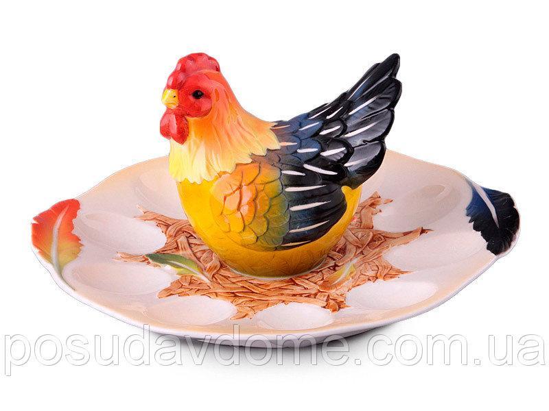"""Тарелка для яиц """"курочка"""", 25х25х16 см, Lefard, 58-805"""