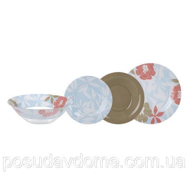 Столовый сервиз Luminarc Peony Floral Blue 19 пр. N6264