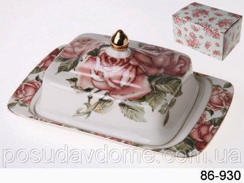 Масленка Lefard Корейская роза 16х12х10 см, 86-930