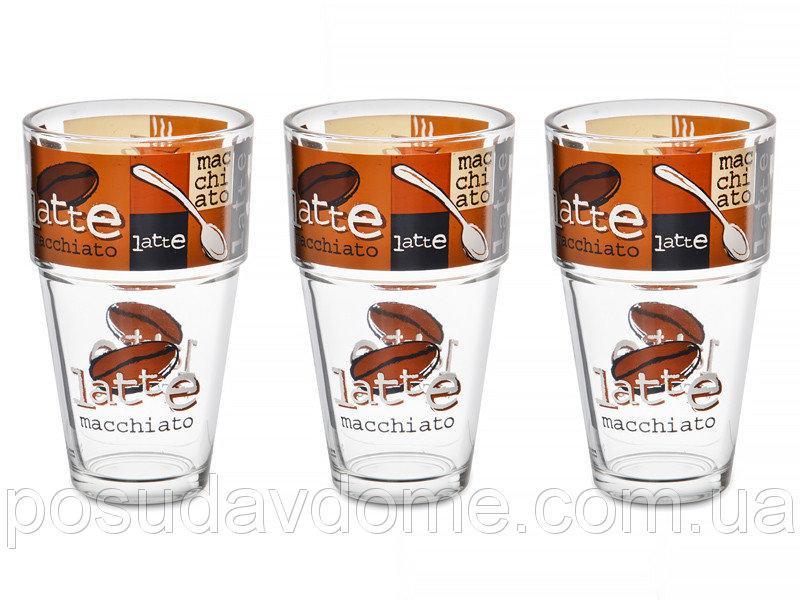 Набор стаканов CERVE S.P.A. Латте 3 шт, 650-644