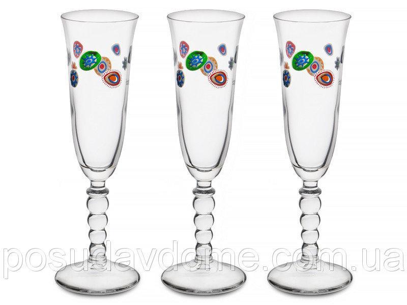 Набор бокалов для шампанского CERVE S.P.A. Мурано 3 шт, 650-681