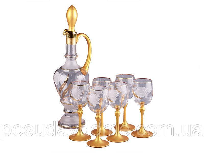 Набор для вина NB Art Тюльпан (Графин + бокалы 150 мл 6 шт) , 615-457