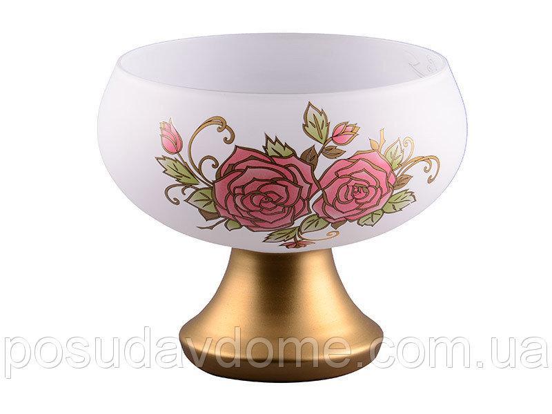"Конфетница ""роскошная роза"" бел. 21 см, NB ART, 615-435"