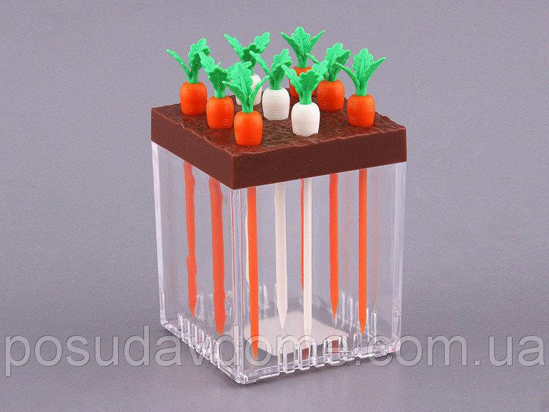 Набор зубочисток Lefard на подставке Морковь 10 предметов, 143-140