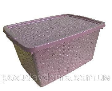 Интригобокс Ящик пластиковый с крышкой не прозрачный 20л, 43*32*22см, HEIDRUN, 4511
