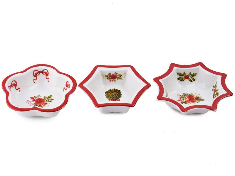 Набор из 3-х салатников Lefard Новогодняя коллекция 8 см, 924-147
