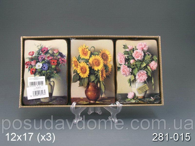 Комплект декоративных панно Brookpace из 3 шт.  11х17см, 281-015