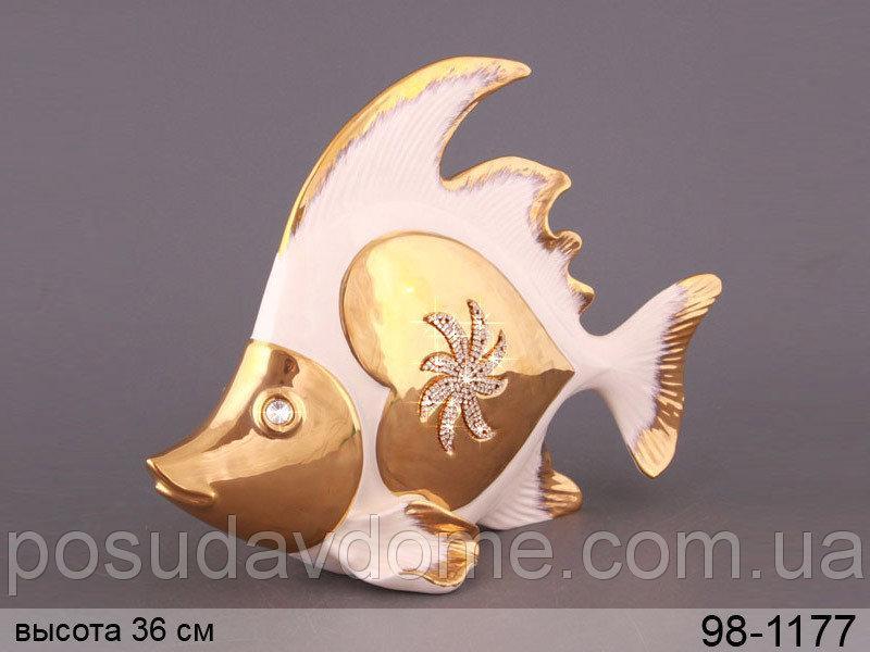 """Фигурка декоративная """"золотая рыбка"""" 36 см, Lefard, 98-1177"""