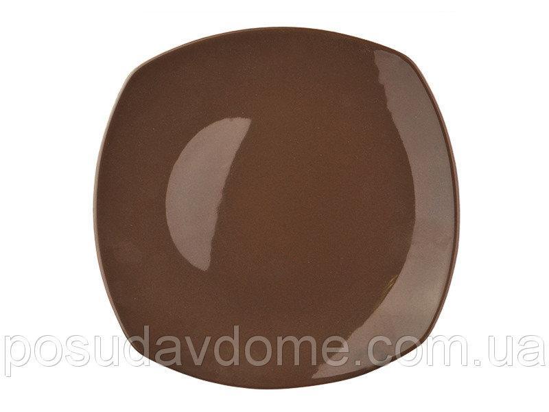Тарелка Lefard Призма коричнеая 28 см, 942-040