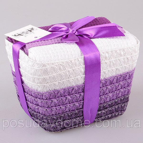 Комплект полотенец из 3 шт 40х60 см Lefard Фиолетовый, 825-008