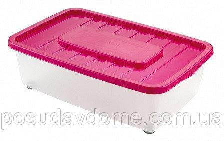 Боксмания Ящик пластиковый под кровать 25л, 56*37*18см, HEIDRUN, 1565