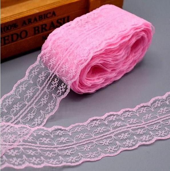 Фото Кружево ,тесьма ,сетка,резинка, Кружево капрон,жаккард,макраме Кружево   Розового  цвета  ( разрезное )  ,  ширина  4,5 см.