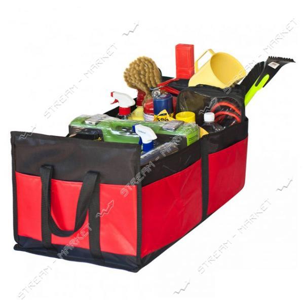 Органайзер в багажник Штурмовик АС-1536 BK/RD 600х370х250мм