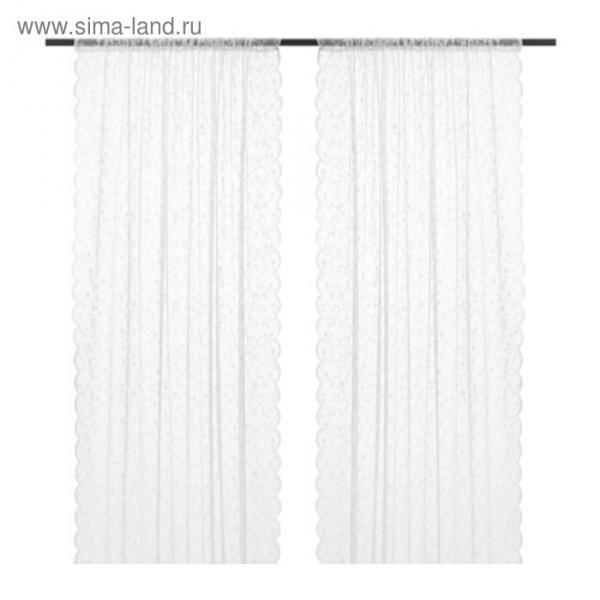 Гардины ЛИЛИАНА, размер 145х300 см-2 шт., цвет белый