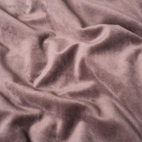Трикотаж костюмный, велюр-вельбоа, ширина 150 см, коричневый