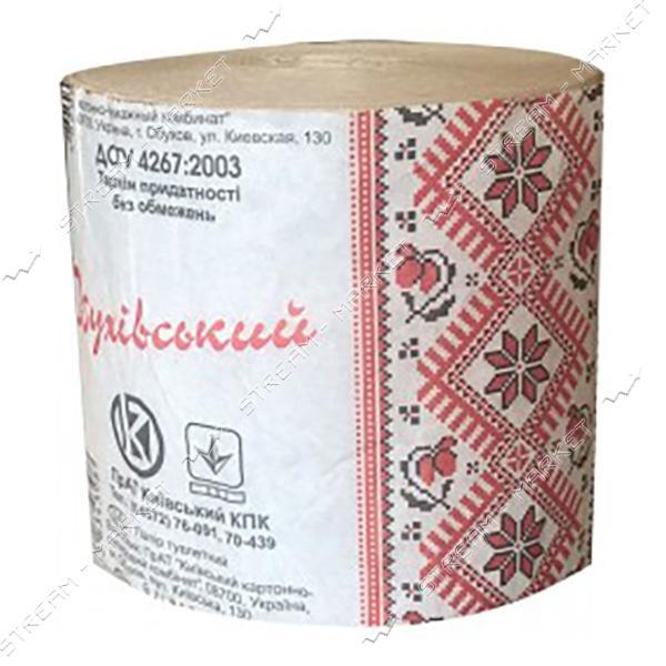 Туалетная бумага Обухов 1 слой макулатурная Серая 1шт