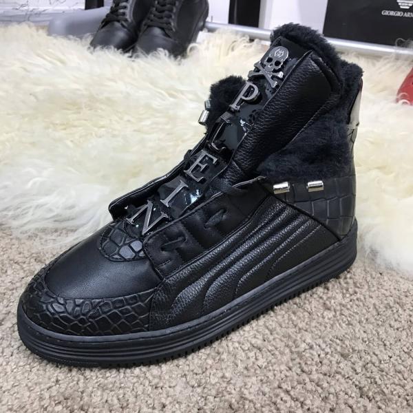 Philipp Plein Hi Top Sneakers Core Black