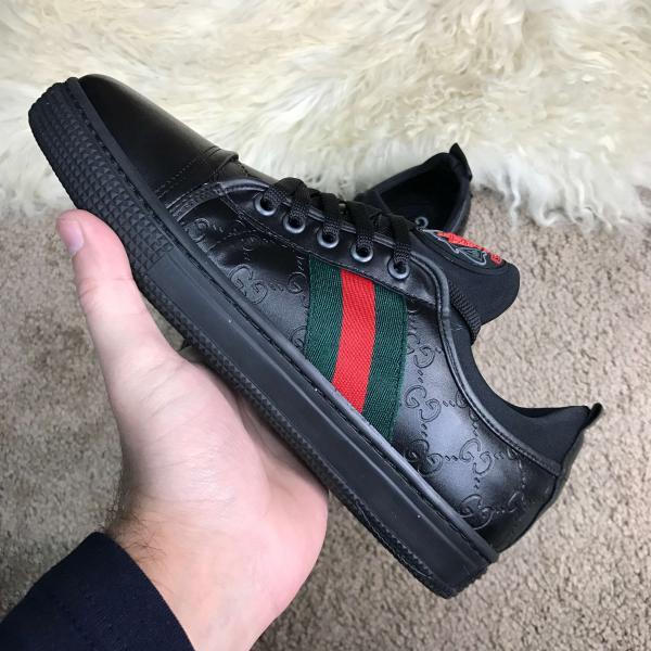 Gucci Signature Web Low Top Black