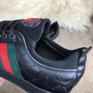 Фото Кроссовки Gucci Signature Web Low Top Black