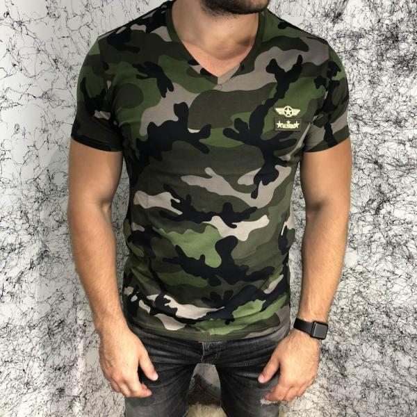 Valentino T-Shirt Army Star Camo Green