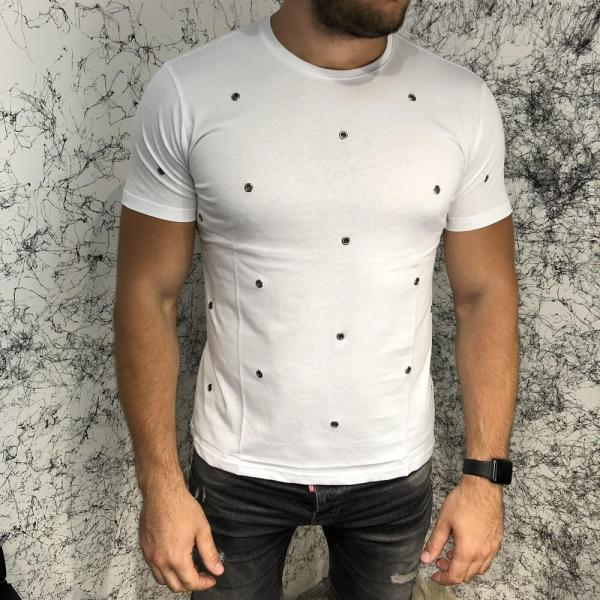 Valentino T-Shirt Hole Dot White