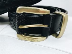 Фото Ремни и пояса Bottega Veneta Nero Intrecciato Belt