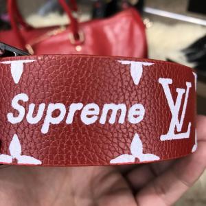 Фото Ремни и пояса Belt Louis Vuitton x Supreme Printed Monogram Red