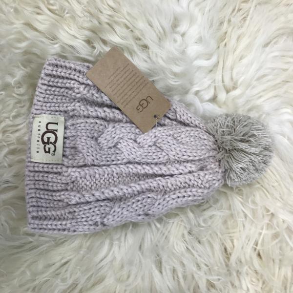 Ugg Winter Hat Knitted Pompon Chestnut