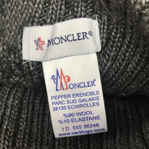 Фото  Moncler Winter Hat Knitted Pompon Dark Gray