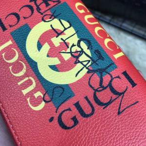 Фото Портмоне и кошельки Gucci Print leather Future Zip Around Wallet Red