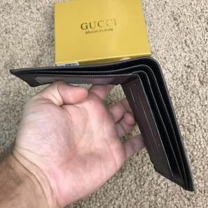 Фото Портмоне и кошельки Gucci Slender Wallet GG Supreme Black Kingsnake