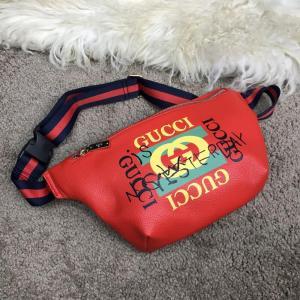 Фото Сумки Gucci Belt Bag Print Leather Future Red