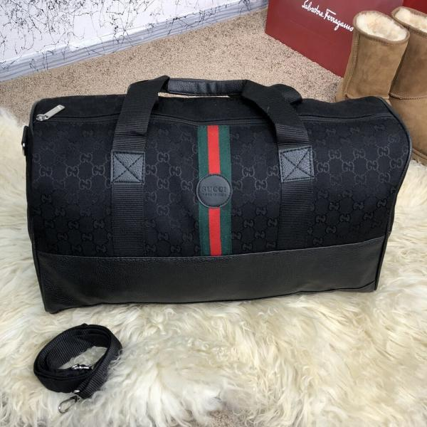 Softsided Luggage Gucci GG Supreme Web Canvas Black