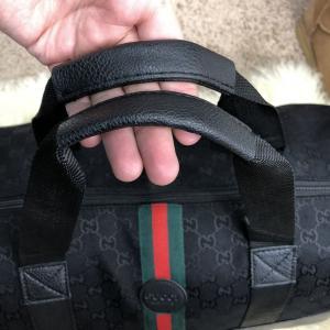 Фото Сумки Softsided Luggage Gucci GG Supreme Web Canvas Black